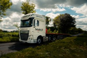 Salvatori truck travels on country lanes