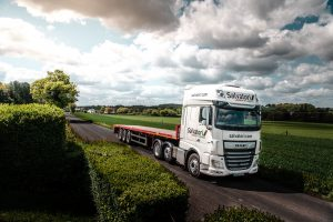 Salvatori lorry traveling in Kent