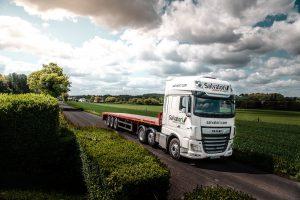 Salvatori lorry traveling in Kent