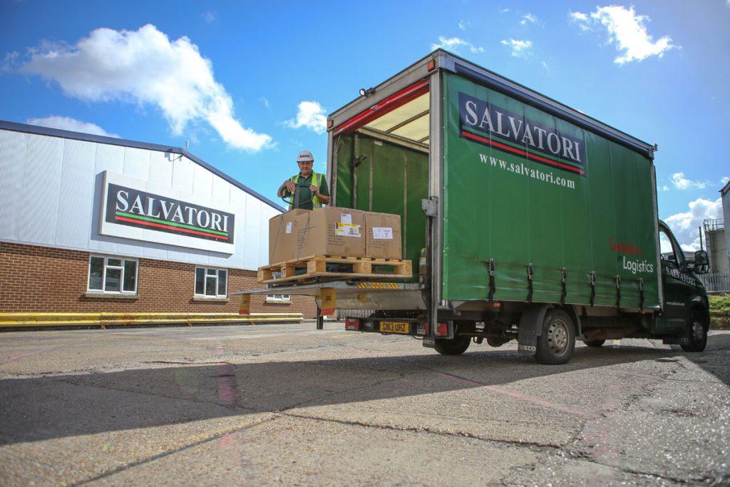 Salvtori express van with tail lift pallet delivery